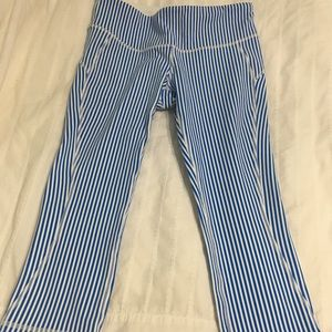 New Balance for J Crew striped crops